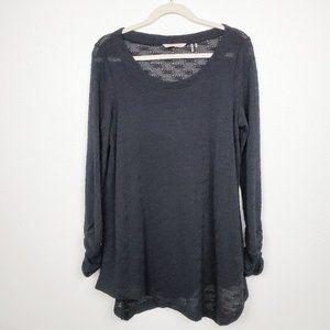 Soft Surroundings Asymmetric Hem Knit Tunic Top